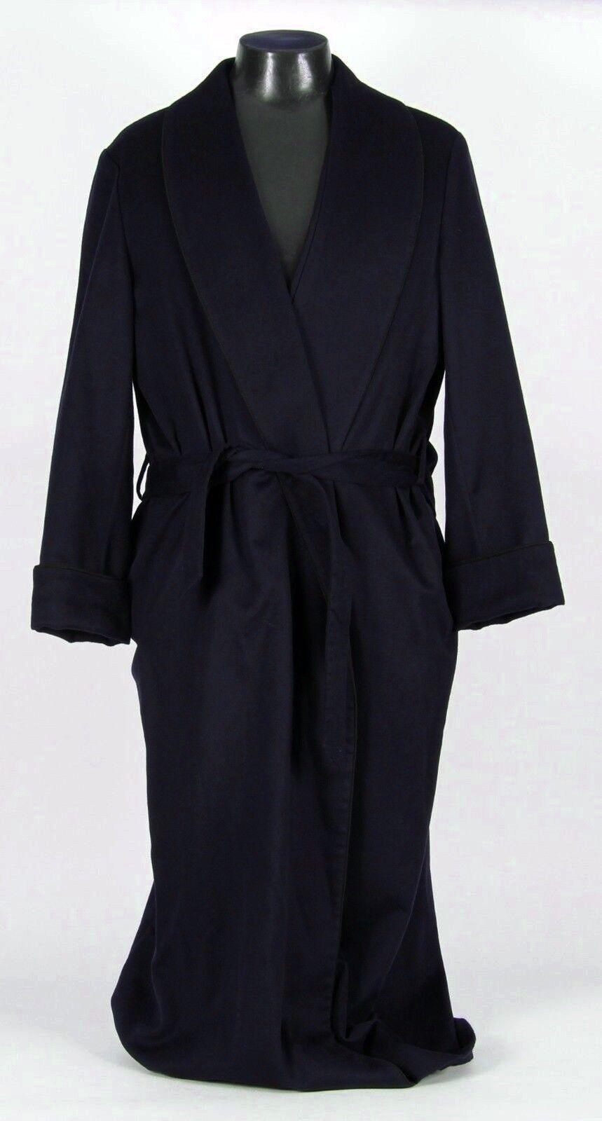 3650 - LGold PIANA 100% CASHMERE Robe - Blau - XL
