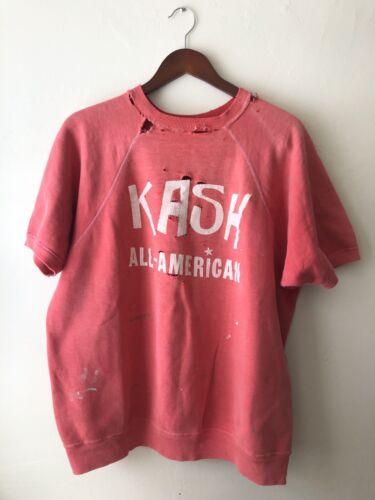 60s Coral Shortsleeve Sweatshirt