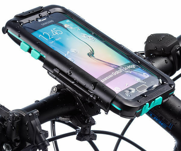 Ultimateaddons Bicycle Bike Mount and Tough Waterproof Case for Galaxy S6 Edge