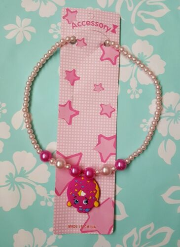 "NIP Lovely Shopkins kids D/'lish Donut Necklace 16/"" long stretchable"