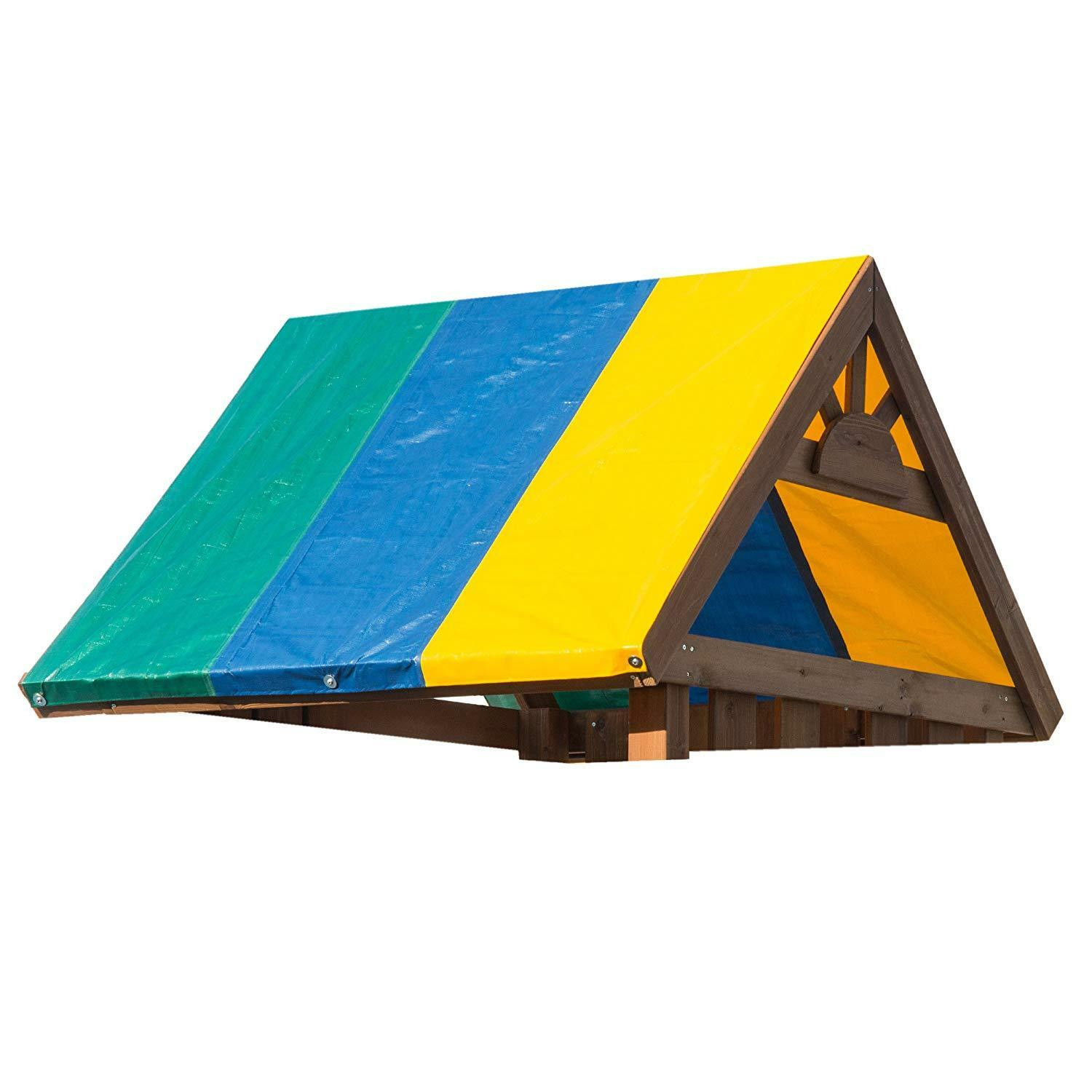 Tarp For Swing Slide Multi-color 52  X 90    Cover Tent Playset Accessories Canopy 5e9339