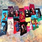 1Pair Art Painting Socks Novelty Artist Series Starry Night Men Women Famous Sox