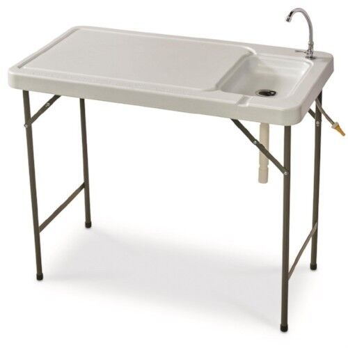 Fish Cleaning Table Folding Portable Faucet Camp Game Hunt Filet  Sink Camping  wholesale price and reliable quality