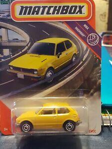 MBX Highway Diecast Matchbox Car Yellow 1976 HONDA CVCC 1:64