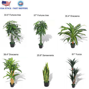 Details about Artificial Plant Fake Tree with Pot Home Garden Office Flower  Livingroom Décor