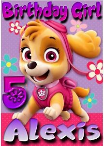 Image Is Loading Personalized Paw Patrol Skye T Shirt