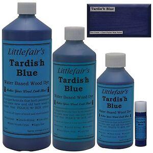Littlefair/'S Base De Agua Rústico Shabby Chic De Madera Mancha Y Tinte-Azul Beach Hut