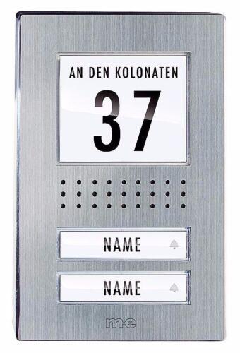 m-e Vistadoor Audio-Türsprechanlage Außenstation ADV 120.1 EG Edelstahl-Front
