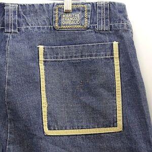 Pantalones Cortos De Jean De Hombre Talla 42 Marithe Francois Girbaud Tan Amarillo Ajuste Hip Hop Ebay
