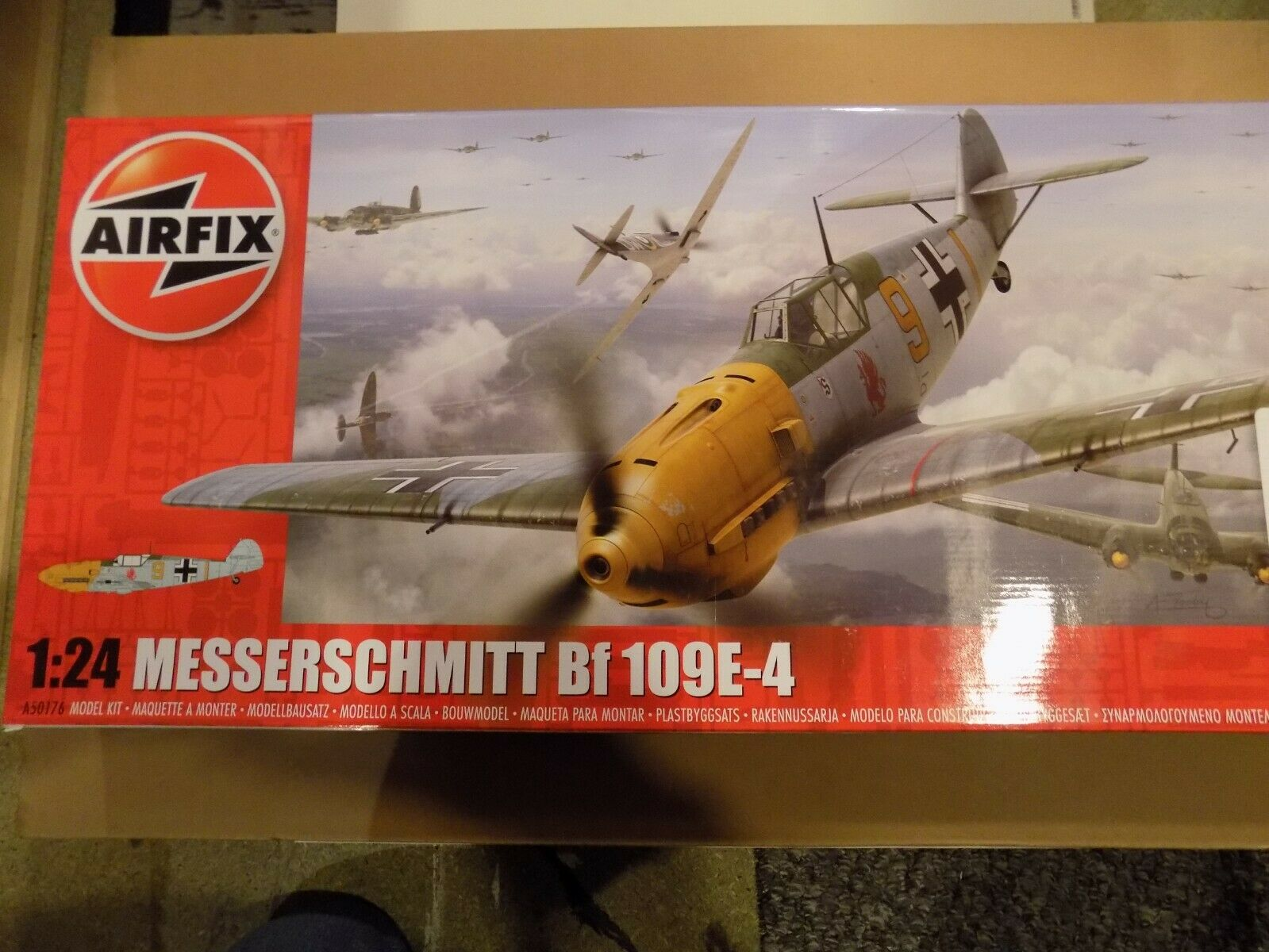 AIRFIX 1 24 SCALE `MESSERSCHMITT 109E` LARGE MODEL KIT IN BRAND NEW CONDITION