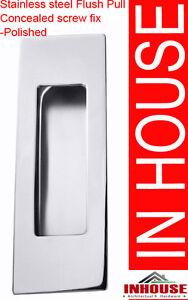Square Edge Stainless steel Flush pull Handles Sliding Door Handles Pulls