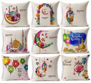 Ramadan-Decoration-Cushion-Cover-Kareem-Eid-Mubarak-Watercolor-Moon-Stars-Lanter