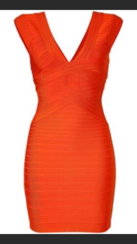 Herve Leger Mandarin Bandage Dress