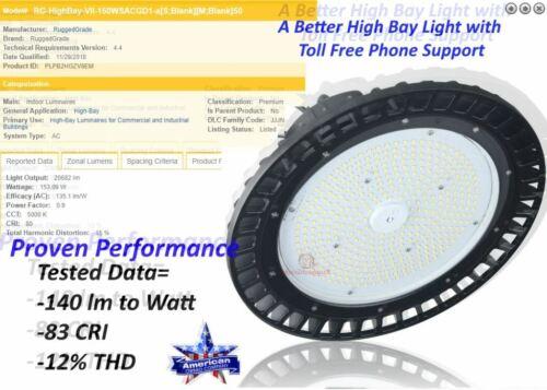 RuggedGrade LED High Bay Light  Corvus Series 100-240 Watt DLC Premium Lighting