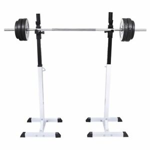 vidaXL-Squat-Barbell-Rack-Set-Gym-Weight-Training-Exercise-80kg-12-Levels