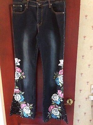 Signore Mozzafiato Svasato Vintage Jeans-taglia S-34 - Da Tarado-in Condizioni Ex-mostra Il Titolo Originale Aspetto Attraente