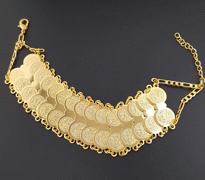 Massives Gold Armband 22 Karat vergoldet Altin Kaplama Bilezik Bileklik Dügün