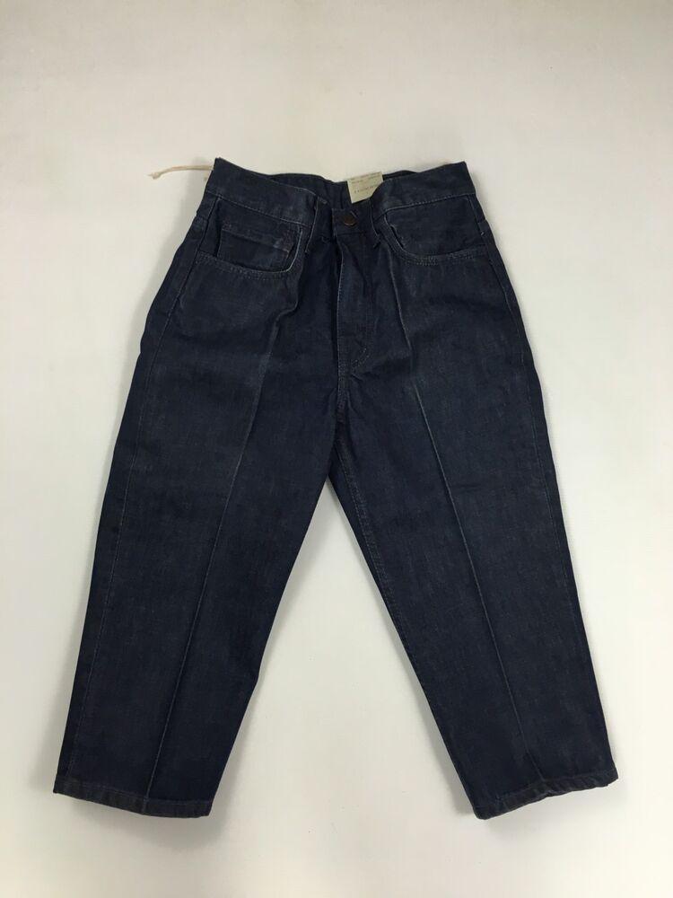 Levi's Sta-prest 3/4 Capri Cropped Jeans-w29-bleu Marine-new-women 's