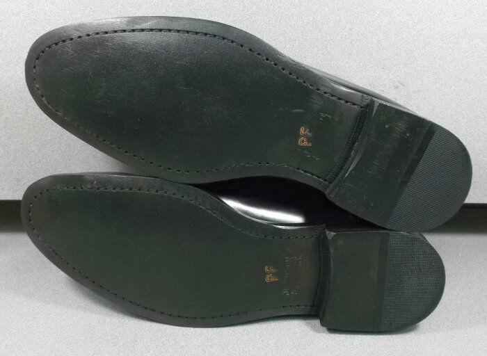 152637 PF50 Men's Shoes Size 10 M Black Leather Slip On Johnston & Murphy