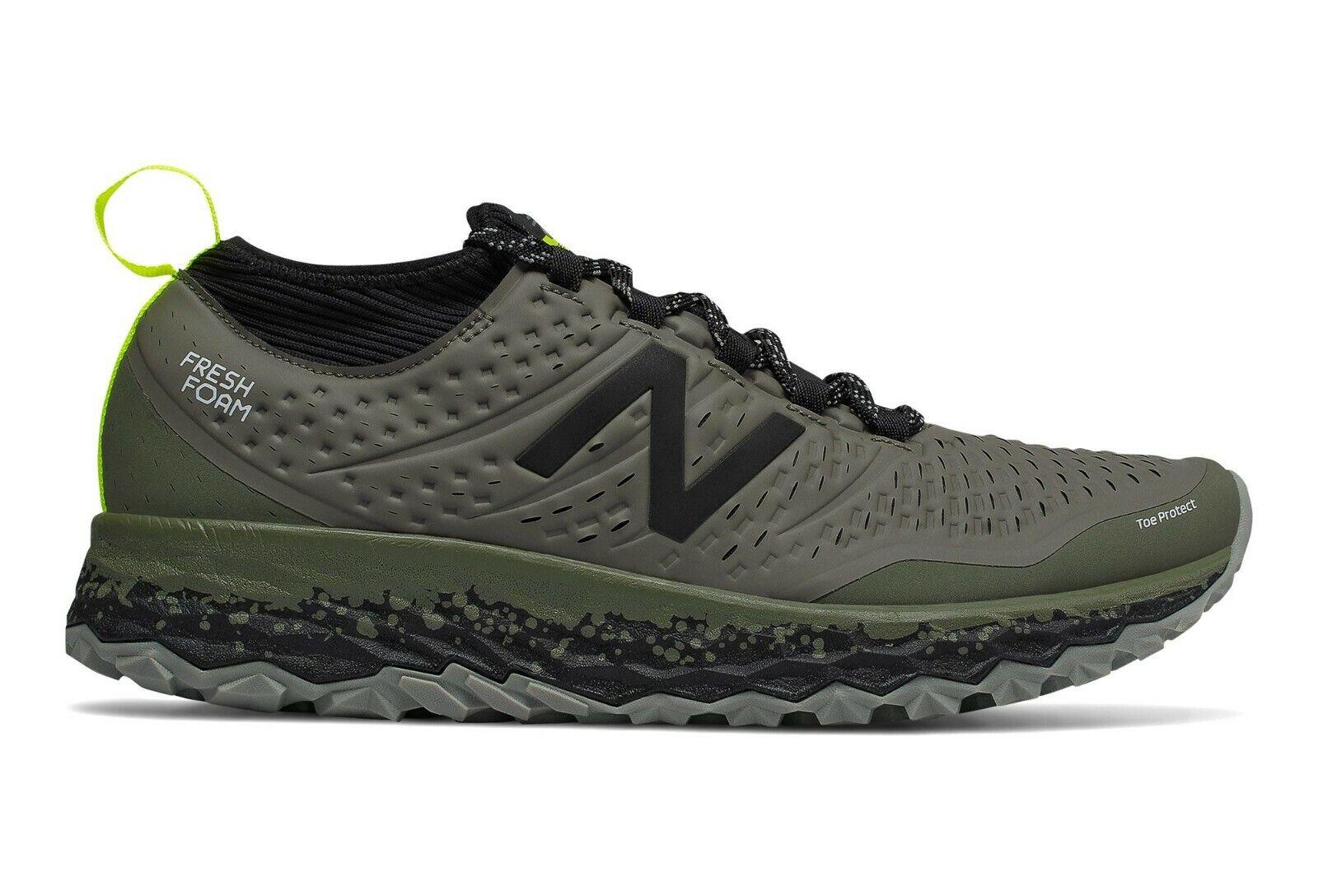 New Balance Fresh Foam Hierrov3 Mens Wide 2E Green Trail Running shoes MTHIERD3