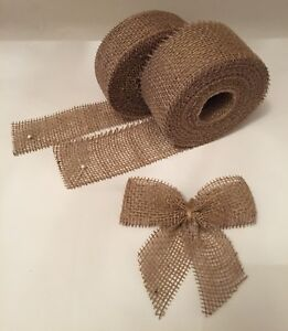 Natural-Jute-Ribbon-Hessian-Burlap-Rustic-Wedding-Bows-Strap-Craft-Floristry