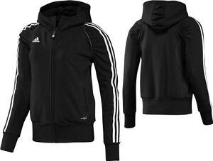adidas-Damen-Hoody-schwarz-Sportjacke-Zip-Hoddie-Kapuzenjacke-Gr-32-42