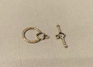 16mm Antiqued Hammered .925 Sterling Silver Toggle Clasp