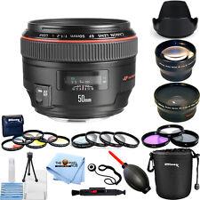 Canon EF 50mm f/1.2L USM Lens (Black)!! ALL YOU NEED BUNDLE BRAND NEW!!
