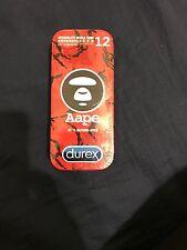 Aape x Durex A Bathing Ape Condom Pack of 12 Red Camo Set New in Box NIB Bape