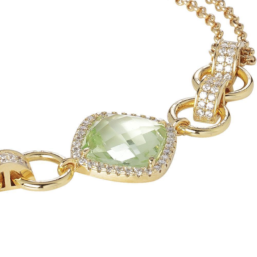 Bracciale Boccadamo Lady Sharada Collection con Chrysolite verde Ref. XBR721D XBR721D XBR721D babb19