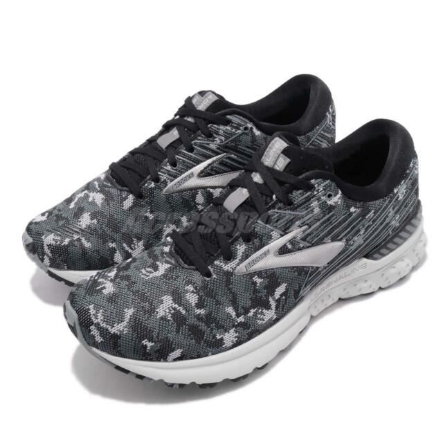 8573d2ca0250d Brooks Adrenaline GTS 19 Black Grey Oyster Camo Men Running Shoes 110294 1D