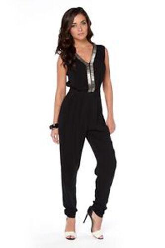 Black Various Sizes Womens Brand New Rock /& Revival /'Tanya/' Beaded Jumpsuit
