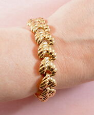 Vintage fabulous chunky gold tone bracelet by Trifari