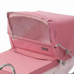 SILVER-CROSS-DOLLS-COACH-BUILT-PRAM-ACCESSORY-RAIN-WIND-SHIELD-Rose-Pink-or-Navy