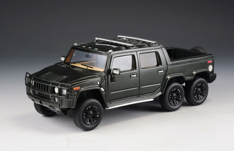 Hummer h2 sut6 2012 6x6 dark vert metal glm171001 1  43 resin 199 pieces  bonne qualité