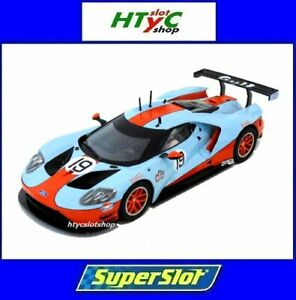 SUPERSLOT-FORD-GT-GTE-19-GULF-EDITION-SCALEXTRIC-UK-H4034
