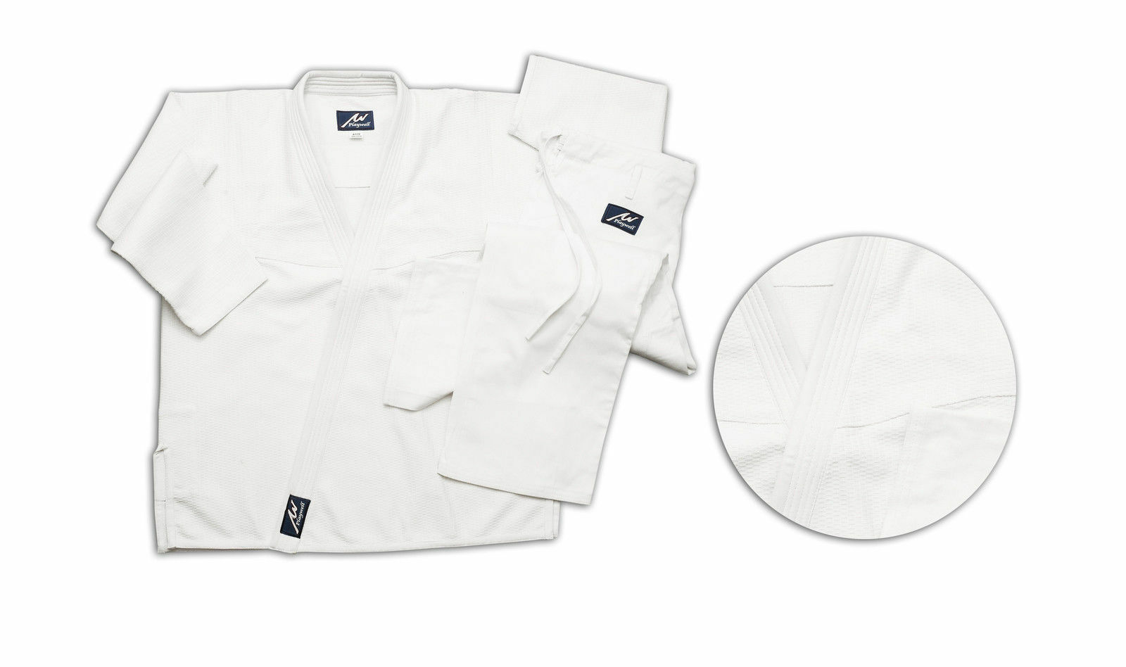 Playwell Judo Heavy Weight Tournament Uniform White 18oz Adults Suits Gi Outfit