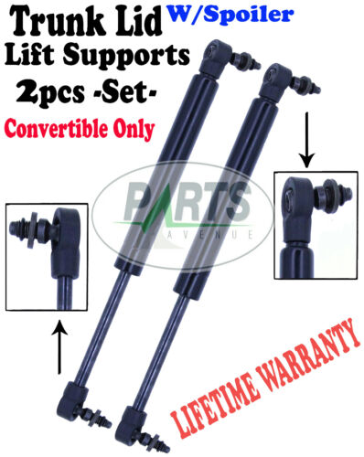 2 REAR TRUNK LID LIFT SUPPORTS SHOCKS STRUTS ARMS RODS PROPS DAMPER WITH SPOILER