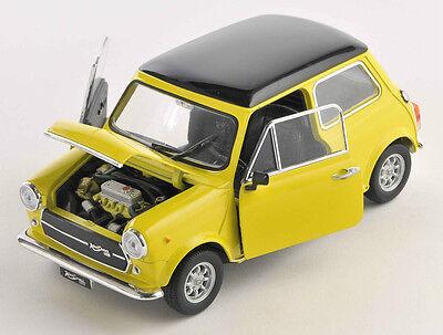 BLITZ VERSAND Mini Cooper 1300 gelb / yellow Welly Modell Auto 1:24 NEU & OVP