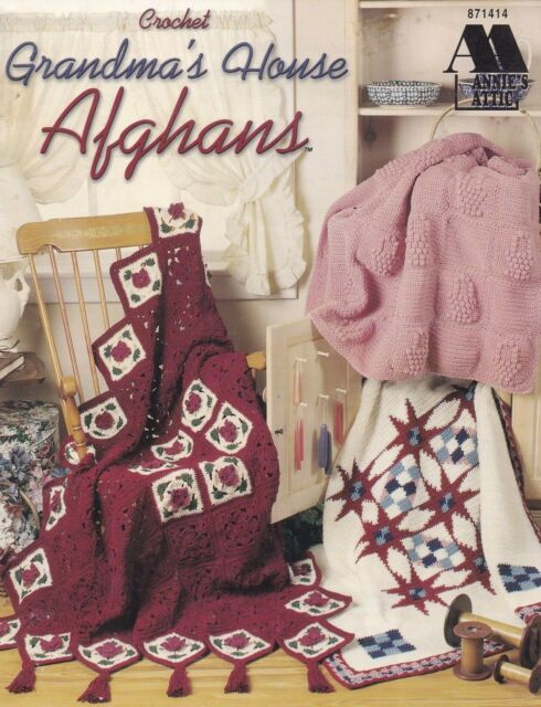 Grandma's House  Afghans, Annie's Attic Crochet Pattern Booklet 871414