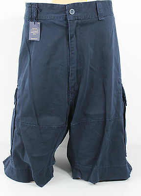 Ralph Lauren Polo Cargo Shorts Classic Chino Mens 46 Big Navy Blue Cotton New