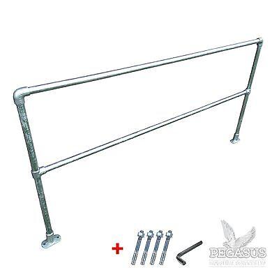 Safety Handrail Barrier 42mm Pipe Clamp Allen Key Fittings Galvanised Steel