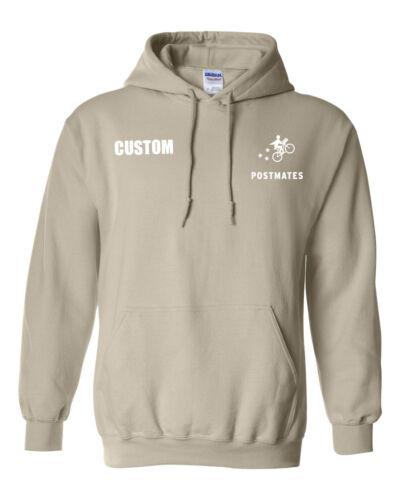 Custom Name Postmates Delivery Driver Hooded Sweater Sweatshirt Pullover Hoodie