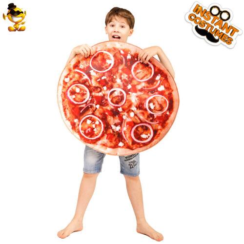 Unisexe Enfants ronde pizza Costume Nourriture Série drôle Cosplay Party Show Combinaison