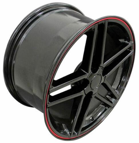 Wheel 97-04 Chevy Corvette C6Z06 17 Inch Alloy Rim 5 Lug 120.65mm Black Front