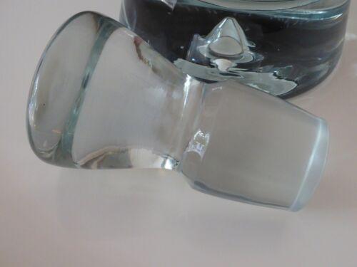 MONT BLANC Karaffe Glas Kristallglas, modernes Design, Handarbeit handgemaakt