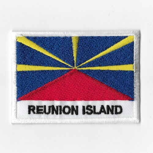 Reunion Island National Flag Iron on Patches Embroidered Applique Badge Emblem