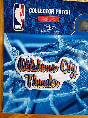 "Basketball Licensed Nba Oklahoma City Thunder ""retro Daze"" Fan Iron Or Sew On Patch"
