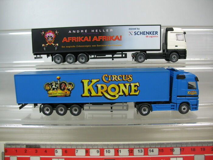 N81-0, 5  Wiking h0 Mercedes-Benz MB camión camión camión remolcarse (2 St)  Circus corona, áfrica 1ac1d8
