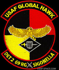 USAF 69th RECONNAISSANCE GRP. DET-2 RQ-4 GLOBAL HAWK DRONE UAV ORIGINAL PATCH